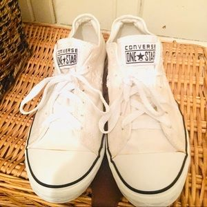 Converse One Star Tennis Shoes -10.5 White mens
